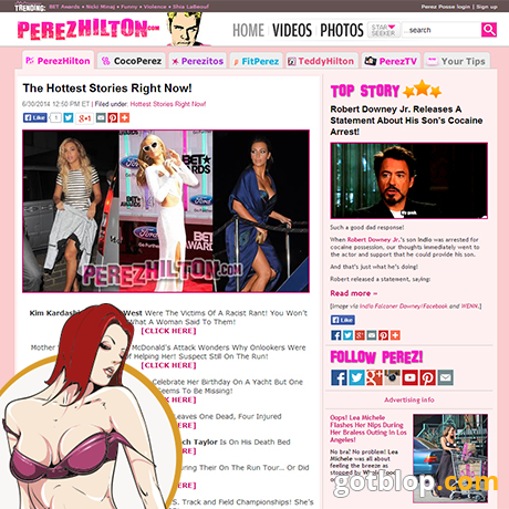 celebrity blog PerezHilton
