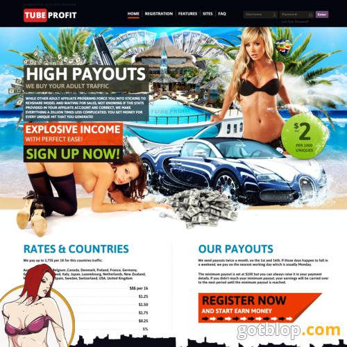 Web adult site affiliate program