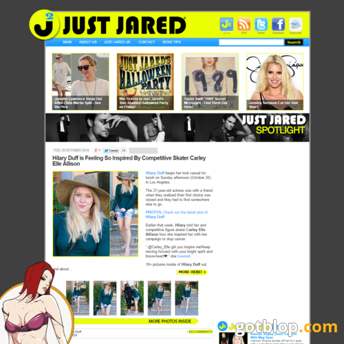 celebrity blog JustJared