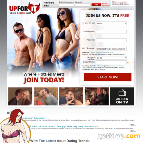Adult sex dating - UpForIt